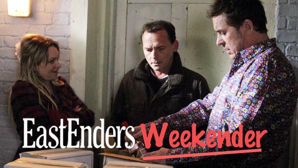 EastEnders Weekender: Feb. 10 - 14, 2014: . Roxy Mitchell (RITA SIMONS), Billy Mitchell (PERRY FENWICK), Alfie Moon (SHANE RICHIE) Photo: Jack Barnes, (c) BBC 2012
