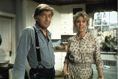 Ralph Waite and Michael Learned on The Waltons