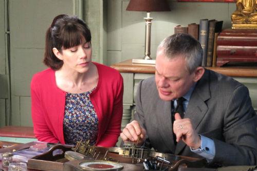 Doc Martin Season 6, Episode 2: Louisa Glasson (CAROLINE CATZ), Dr. Martin Ellingham (MARTIN CLUNES)