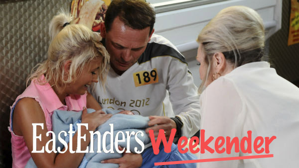 EastEnders Weekender June 16 - 20, 2014: Lola Pearce (DANIELLE HAROLD), Billy Mitchell (PERRY FENWICK), Cora Cross (ANN MITCHELL) Photo - Kieron McCarron BBC 2012