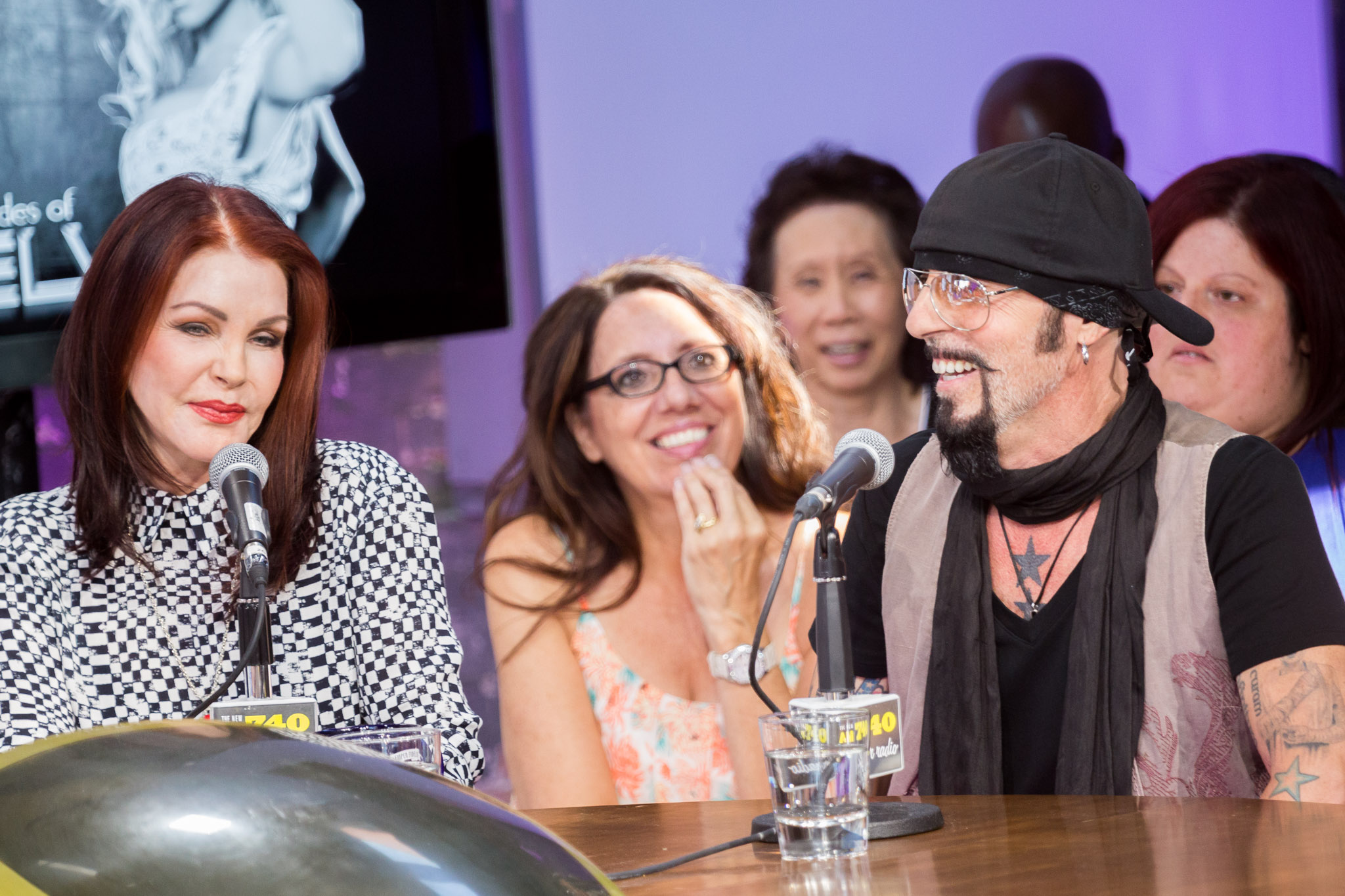 Priscilla Presley and Christopher Ameruoso at ZoomerPlex © Jeff Higgins Photography