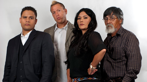 The Other Side: Investigative Team (L to R) Intuitive Jeff Richards, Paranormal Investigator Bill Connelly, Researcher Priscilla Wolf, Aboriginal Elder and Spirit Guide Tom Charles