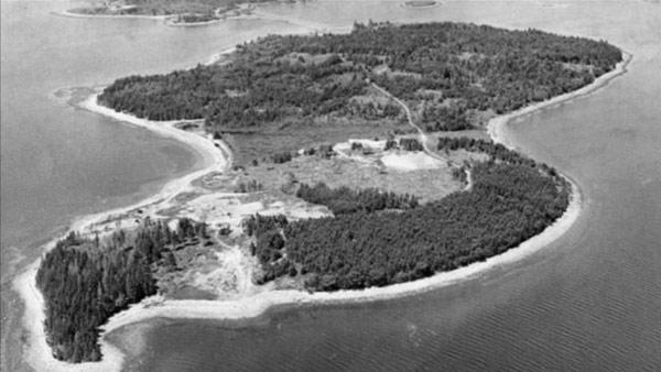 The Conspiracy Show S3E1: Oak Island, Nova Scotia aerial view