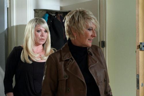 EastEnders Weekender Sept. 26: Sharon Rickman (LETITIA DEAN), Shirley Carter (LINDA HENRY) Photo: Jack Barnes © BBC 2012