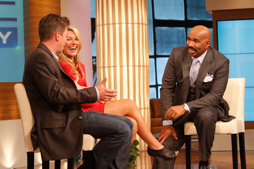 Steve Harvey On Set