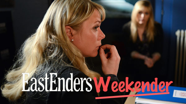 EastEnders Weekender (Jan. 9 & 10, 2015): Sharon Rickman (LETITIA DEAN) Photo: Kieron McCarron (c) BBC 2013