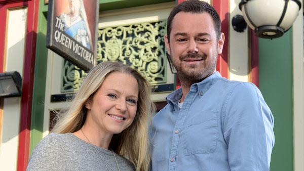 EastEnders 274, May 2015: Mick and Linda Carter (KELLIE BRIGHT, DANNY DYER) Photo: Kieron McCarron (c) BBC 2013