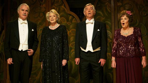 Quartet: (L to R) Wilf Bond (BILLY CONNOLLY), Jean Horton (MAGGIE SMITH), Reginald Paget (TOM COURTENAY), Cissy Robson (PAULINE COLLINS)