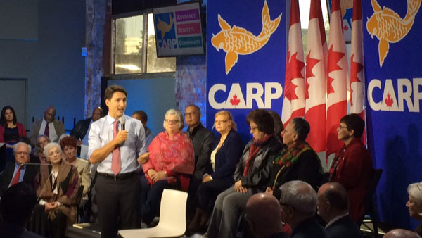 ZNews: Justin Trudeau Rolls Out Strategy For Seniors at CARP Town Hall