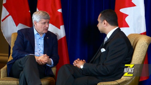 ZNews Exclusive: Stephen Harper Speaks With Rev. Majed El Shafie on Syrian Refugee Crisis