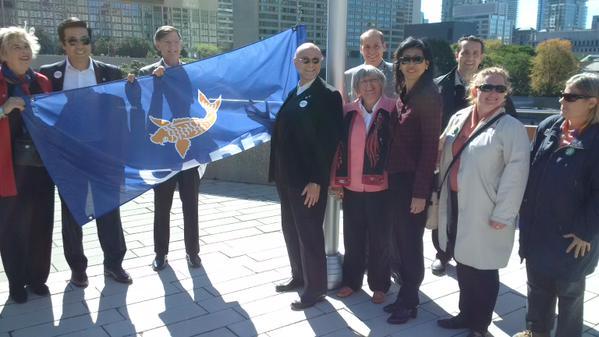 Senior Savvy: National Seniors Day CARP flag raising at City Hall, Toronto
