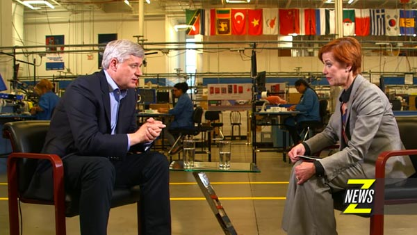 ZNews: Libby Znaimer Interviews Stephen Harper