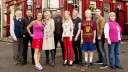 EastEnders: Fall 2015: The Carters. Stan Carter (TIMOTHY WEST), Dean Wicks (MATT DI ANGELO), Tina Carter (LUISA BRADSHAW WHITE), Shirley Carter (LINDA HENRY), Mick Carter (DANNY DYER), Linda Carter (KELLIE BRIGHT), Johnny Carter (SAM STRIKE), Nancy Carter (MADDY HILL), Lee Carter (DANNY-BOY HATCHARD), Aunt Babe (ANNETTE BADLAND) Photo: Des Willie (c) BBC 2014