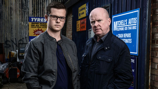 EastEnders 281 (Oct/Nov 2015): Ben Mitchell (HARRY REID), Phil Mitchell (STEVE MCFADDEN) Photo: Kieron McCarron (c) BBC 2014