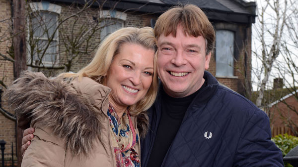 EastEnders (287): Kathy Beale (GILLIAN TAYLFORTH), Ian Beale (ADAM WOODYATT) Photo: Kieron McCarron (c) BBC 2015