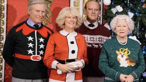 A Waxed Royal Family Wears Funky Sweaters for the Holidays ...