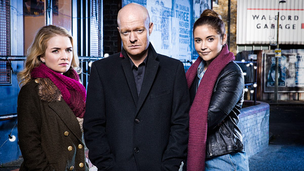 EastEnders 2016/2017: L to R: Abi Branning (Lorna Fitzgerald), Max Branning (Jake Gold) and Lauren Branning (Jacqueline Jossa) Photo: Nicky Johnston (c) BBC 2016
