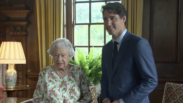 Justin Trudeau & Queen Elizabeth II