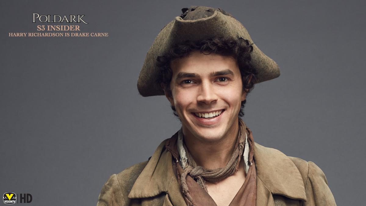Poldark Insider S3: Harry Richardson is Drake Carne