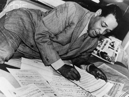 Duke Ellington Writing on Music Scores