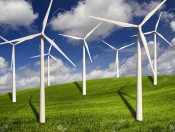 2953957-Beautiful-green-meadow-with-Wind-turbines-generating-electricity-Stock-Photo