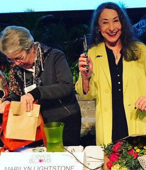 Marilyn Lightstone Returns to Canada Bloom's Celebrity Flower Arranging Contest