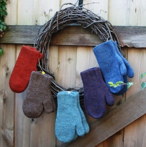 Upcycled Felted Wool Mittens Pattern - Crafting Classes, Patterns