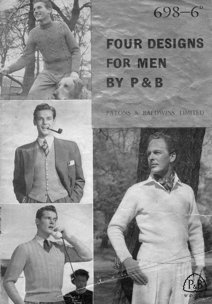 Knitting pattern book with Roger Moore