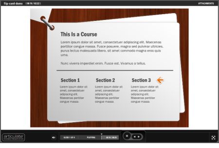 The Rapid E-Learning Blog - example PowerPoint elearning template