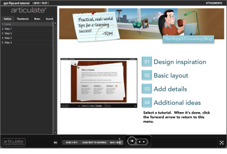 The Rapid E-Learning Blog - tutorial on how to build the PowerPoint elearning template