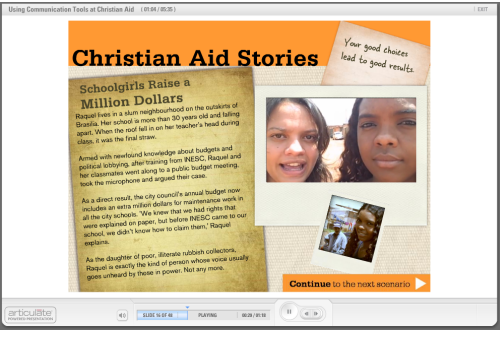 The Rapid E-Learning Blog - Christian Aid course