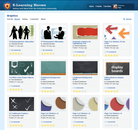 The Rapid E-Learning Blog - download free graphics and templates in the E-Learning Heroes Community