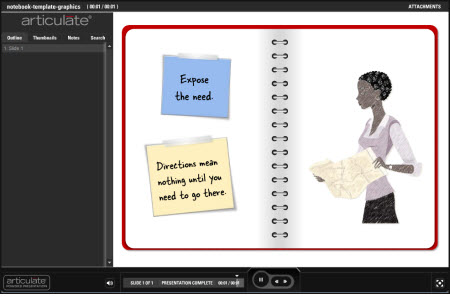 The Rapid E-Learning Blog - example of a notebook PowerPoint template