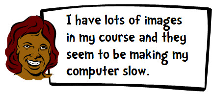 The Rapid E-Learning Blog - the big image files make my computer slow