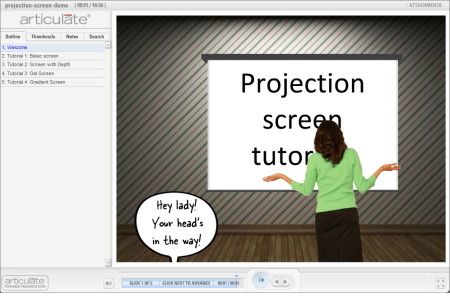 The Rapid E-Learning Blog - free tutorial that shows how to make graphics in PowerPoint