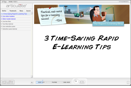 The Rapid E-Learning Blog - click here to view the PowerPoint tutorial