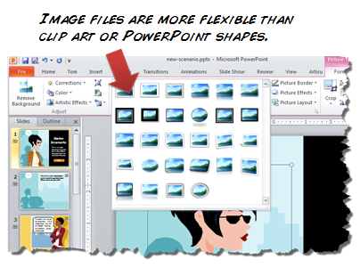 The Rapid E-Learning Blog - there are a lot more graphic tools in PowerPoint for bitmaps than objects