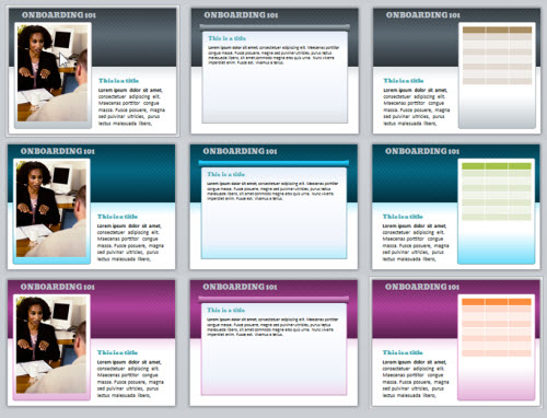 The Rapid E-Learning Blog - the free PowerPoint template using different colors