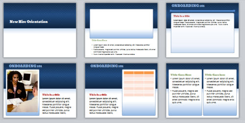 The Rapid E-Learning Blog - example of the free PowerPoint template