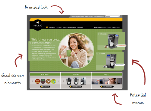 The Rapid E-Learning Blog - ideas I pulled from the Keurig site for my web design