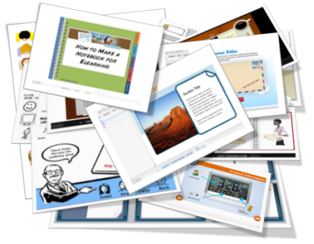 The Rapid E-Learning Blog - stack of free PowerPoint files