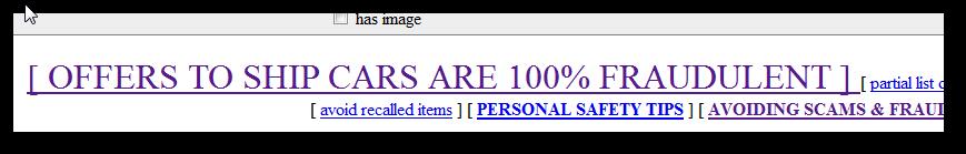 Craigslist scam warning