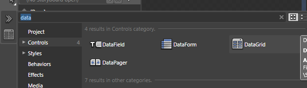 Add DataGrid