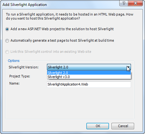 Visual Studio 2010 Silverlight multi-targeting