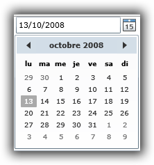 French DatePicker and Calendar