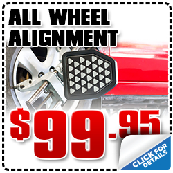 Click to view our Subaru all wheel alignment service special in San Diego, CA