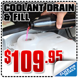 Click to view our Subaru coolant drain & fill service special in San Diego, CA