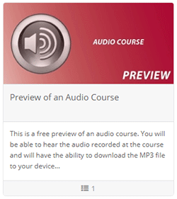 Preview of an Audio Course