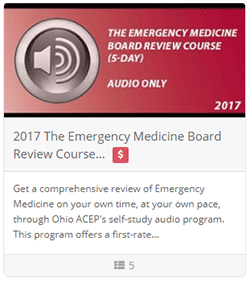 2017 The Emergency Medicine Board Review Course (5 day) - Audio Only