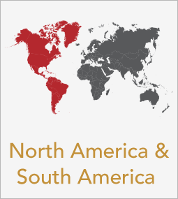 North and South America